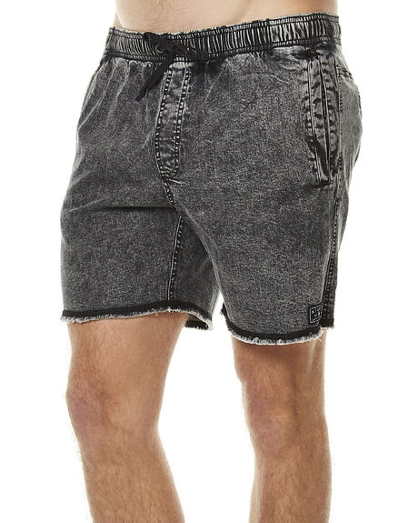 BLACK ACID MENS CLOTHING AFENDS BOARDSHORTS - 09-05-013BLKAC