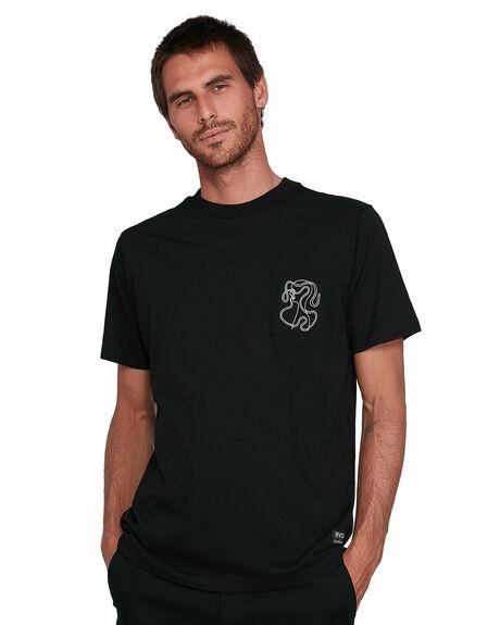 BLACK MENS CLOTHING RVCA TEES - RV-R108043-BLK