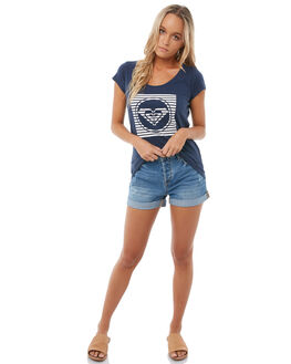 DRESS BLUES WOMENS CLOTHING ROXY TEES - ERJZT04183BTK0