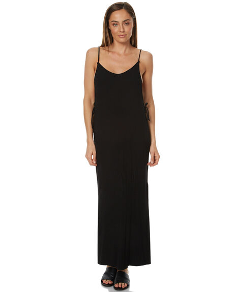 BLACK WOMENS CLOTHING RUSTY DRESSES - DRL0857BLK