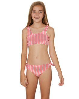 RED WHITE KIDS GIRLS SEAFOLLY SWIMWEAR - 27075RED