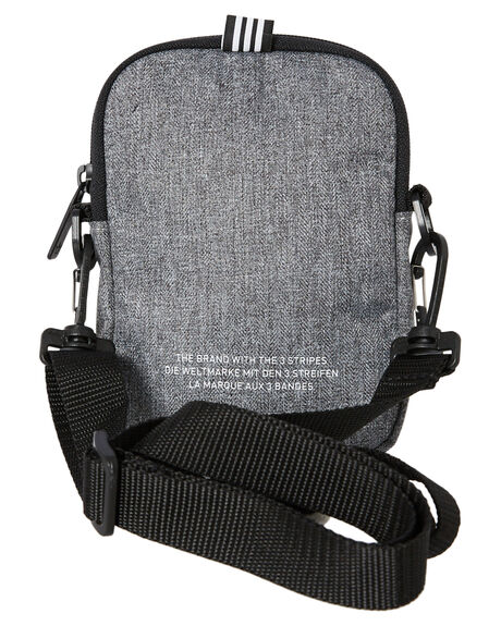 BLACK WHITE MENS ACCESSORIES ADIDAS BAGS + BACKPACKS - GL7472BLKWH