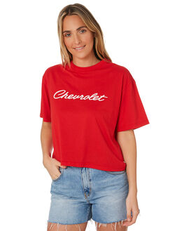 NOVA RED WOMENS CLOTHING BRIXTON TEES - 02826NVARD