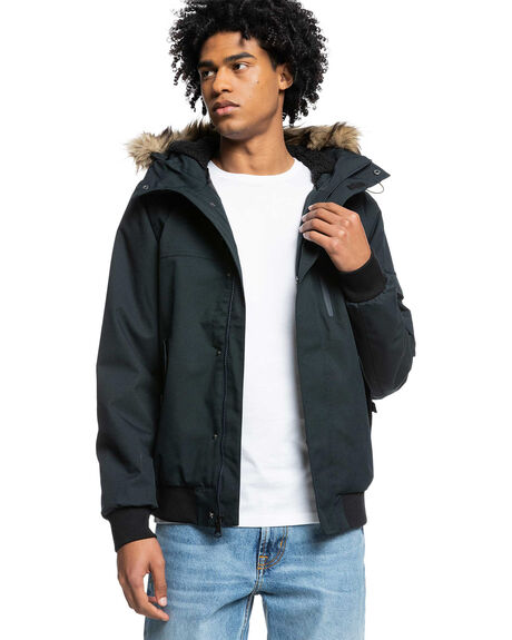 BLACK MENS CLOTHING QUIKSILVER JACKETS - EQYJK03613-KVJ0