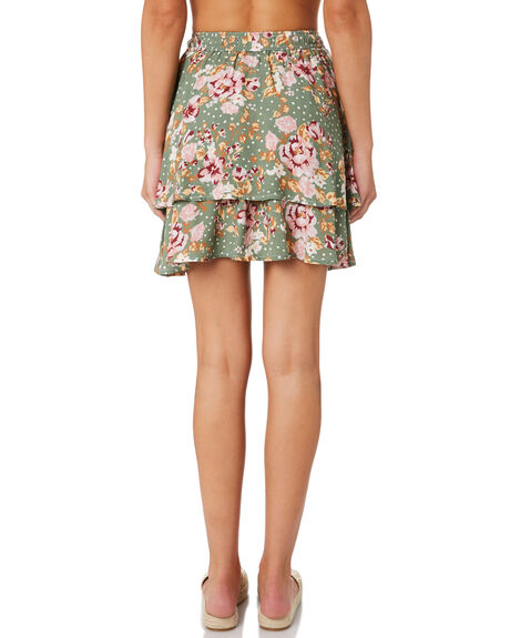 KEIRA FLORAL WOMENS CLOTHING SWELL SKIRTS - S8201195KEFLR