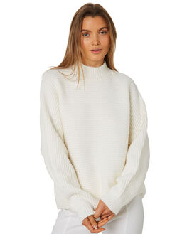 WARM WHITE WOMENS CLOTHING ZULU AND ZEPHYR KNITS + CARDIGANS - ZZ2425WWHT