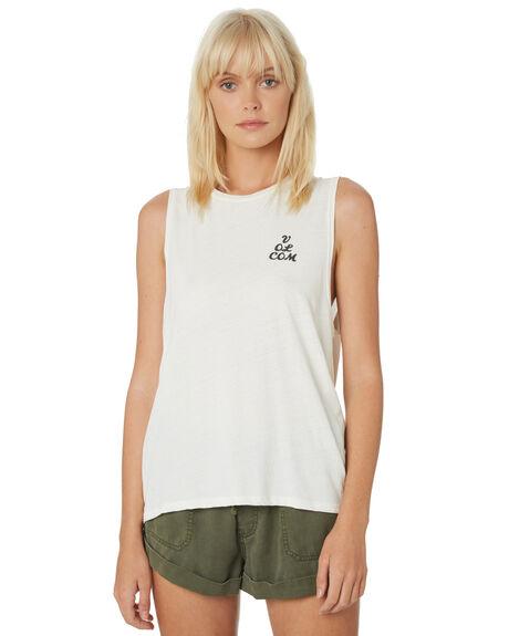 WHITE WOMENS CLOTHING VOLCOM SINGLETS - B3511903WHT
