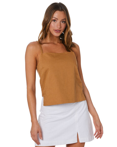 TOBACCO WOMENS CLOTHING NUDE LUCY FASHION TOPS - NU23958TOB