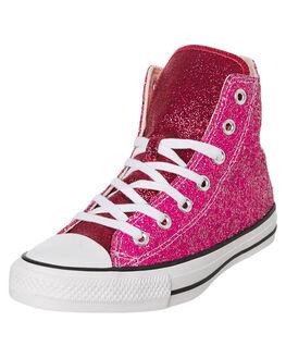 PINK WOMENS FOOTWEAR CONVERSE SNEAKERS - 566269CPINK