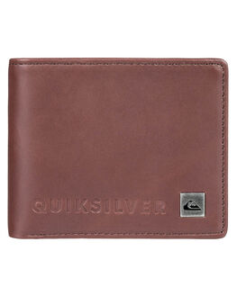 CHOCOLATE BROWN MENS ACCESSORIES QUIKSILVER WALLETS - EQYAA03692CSD0