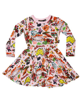 PINK KIDS GIRLS ROCK YOUR KID DRESSES + PLAYSUITS - TGD1951-STPINK