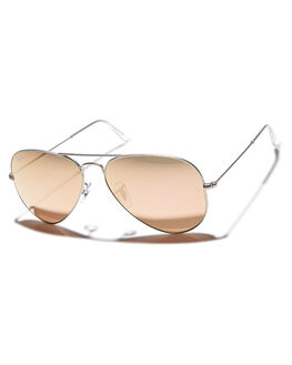 MATTE SILVER BROWN UNISEX ADULTS RAY-BAN SUNGLASSES - 0RB302558019Z2