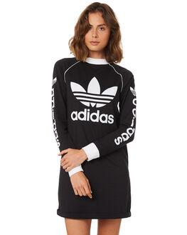 BLACK WOMENS CLOTHING ADIDAS DRESSES - DH4706095A