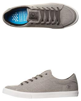 GREY TWILL MENS FOOTWEAR KUSTOM SNEAKERS - 4981116UGRYTW