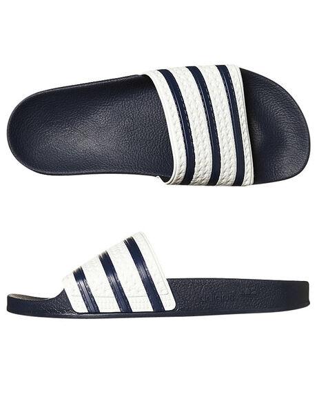 ADIBLUE WHITE MENS FOOTWEAR ADIDAS SLIDES - G16220ADIBL