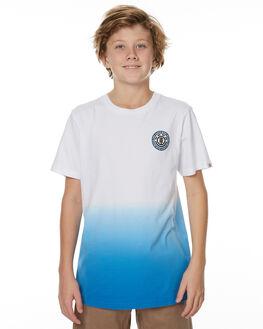 WHITE DARK ROYAL KIDS BOYS ELEMENT TEES - 373001WHT