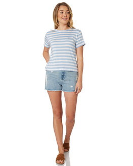 IRIS BLUE WOMENS CLOTHING ALL ABOUT EVE TEES - 6423026STR