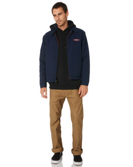 DELUXE NAVY MENS CLOTHING BRIXTON JACKETS - 03259DELNV