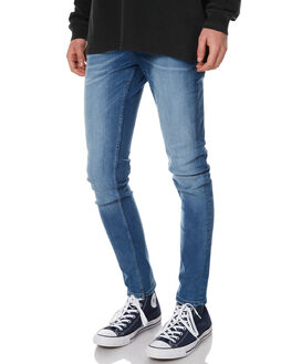 DUG UP BLUE MENS CLOTHING CHEAP MONDAY JEANS - 0433708DUG