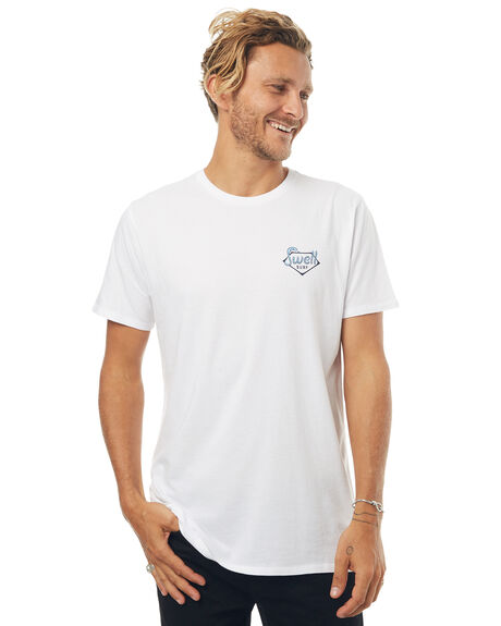 WHITE OUTLET MENS SWELL TEES - S5171006WHT