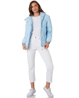 LIGHT BLUE WOMENS CLOTHING RPM JACKETS - 9WWT16A2LBLU