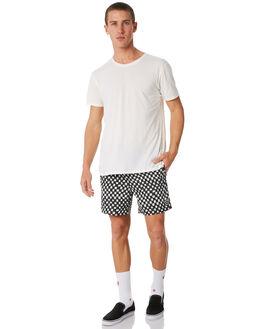 BLACK WHITE MENS CLOTHING INSIGHT BOARDSHORTS - 5000001891BKWH