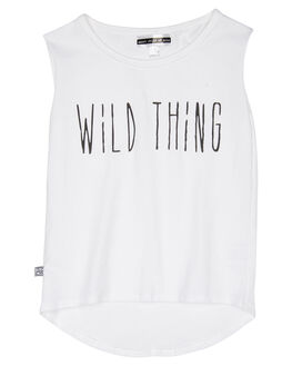 WHITE KIDS TODDLER GIRLS SWEET CHILD OF MINE SINGLETS - SP18WILDTHINGMSCWHT