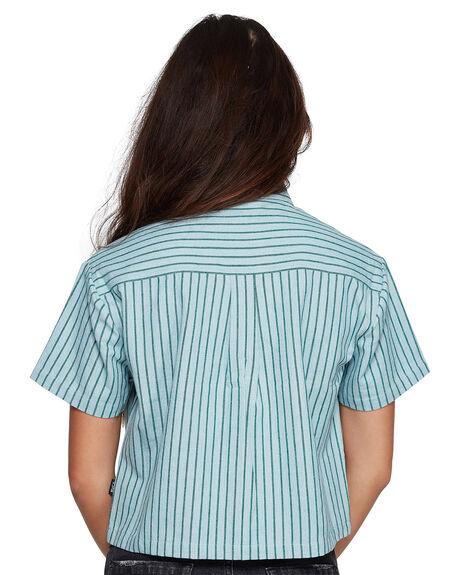 GREEN STRIPE WOMENS CLOTHING RVCA FASHION TOPS - RV-R407181-GES