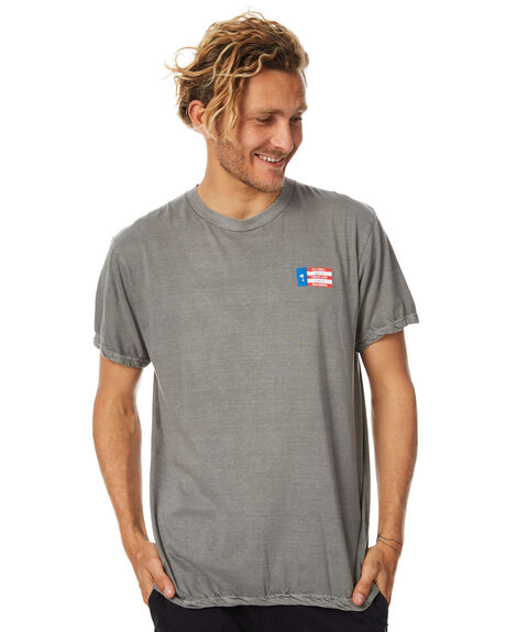 FADED GREY MENS CLOTHING THRILLS TEES - TS7-122GFGRY