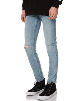 SPEAR BLUE MENS CLOTHING CHEAP MONDAY JEANS - 0433706SPBLU