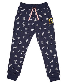 NAVY & WHITE KIDS TODDLER GIRLS EVES SISTER PANTS - 8090028NVY