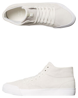 WHITE MENS FOOTWEAR DC SHOES SKATE SHOES - ADYS300423WHT