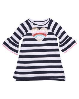 NAVY WHITE STRIPE KIDS TODDLER GIRLS EVES SISTER DRESSES - 8000018STR