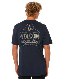 NAVY MENS CLOTHING VOLCOM TEES - A5001953NVY