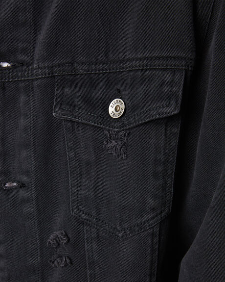 BLACK MENS CLOTHING SILENT THEORY JACKETS - 4013054BLK