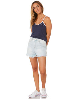 NAVY WOMENS CLOTHING AFENDS SINGLETS - W184096NVY