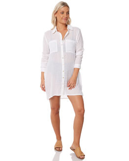 WHITE WOMENS CLOTHING RUSTY FASHION TOPS - SCL0281WHT