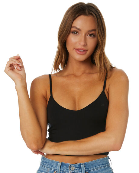 BLACK WOMENS CLOTHING LEE SINGLETS - L-652117-602BLK