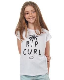 WHITE KIDS GIRLS RIP CURL TEES - JTECS11000