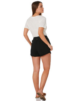 BLACK WOMENS CLOTHING RUSTY SHORTS - WKL0669BLK