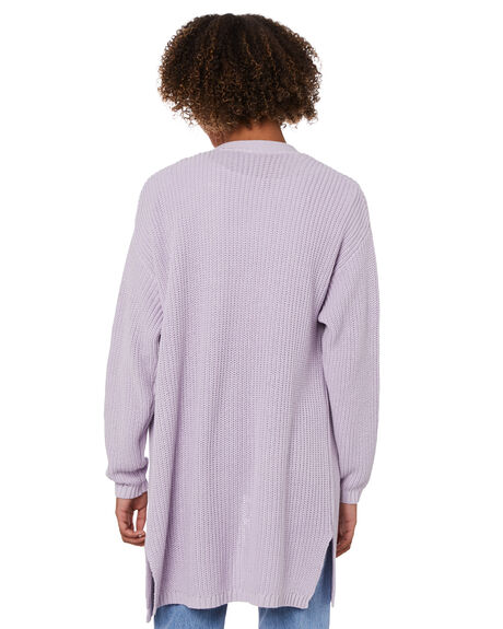 PURPLE WOMENS CLOTHING ALL ABOUT EVE KNITS + CARDIGANS - 6473020PURP