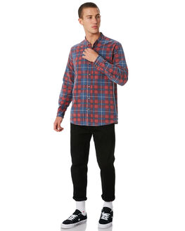 FADED BLUE RED MENS CLOTHING ROLLAS SHIRTS - 107271178