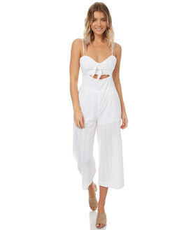 WHITE WOMENS CLOTHING MINKPINK PLAYSUITS + OVERALLS - MP1706553WHT