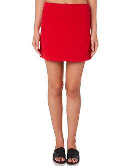 RED WOMENS CLOTHING HUFFER SKIRTS - WSK84S4601-188