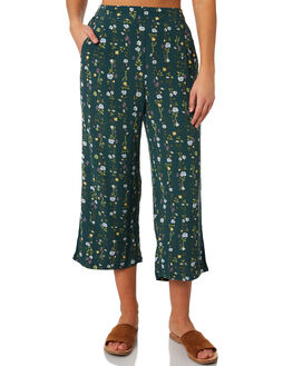 JUNGLE GREEN WOMENS CLOTHING ALL ABOUT EVE PANTS - 6423029PRNT2