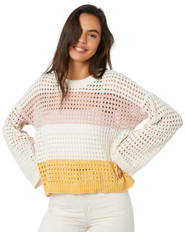 PEACH STRIPE WOMENS CLOTHING MINKPINK KNITS + CARDIGANS - MP1909803PSTP