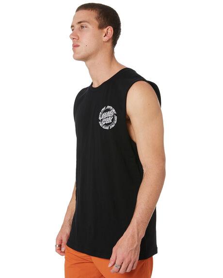 BLACK MENS CLOTHING SANTA CRUZ SINGLETS - SC-MTD9362BLK