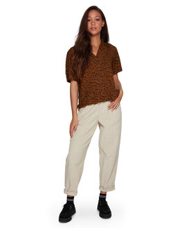 ANTIQUE BRON WOMENS CLOTHING RVCA FASHION TOPS - RV-R207183-A64