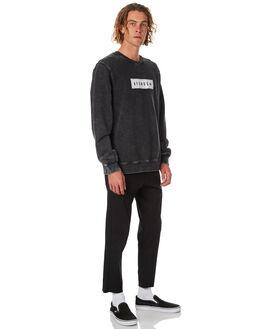 BLACK ACID WASH MENS CLOTHING AFENDS JUMPERS - M182508BAWSH
