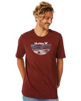 PUEBLO BROWN MENS CLOTHING HURLEY TEES - AO8784203